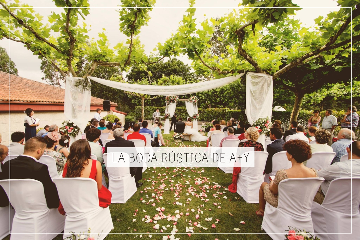 BODA RÚSTICA DECORACIÓN CEREMONIA