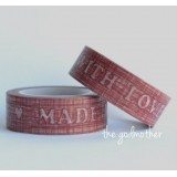 "Washi tape ""Made with love"""