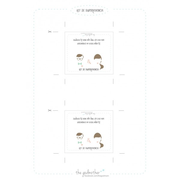 Imprimible - Kit supervivencia para bodas
